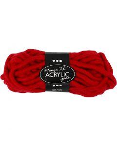 Filato spesso Chunky in acrilico, L: 17 m, misura manga , rosso scuro, 200 g/ 1 gom.