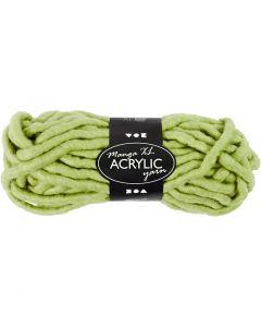 Filato spesso Chunky in acrilico, L: 17 m, misura manga , verde lime, 200 g/ 1 gom.