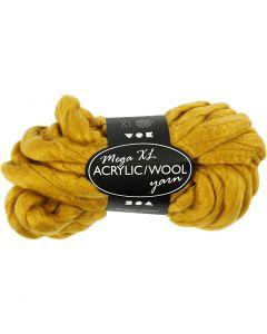 Filato spesso Chunky in lana/acrilico, L: 15 m, misura mega , giallo scuro, 300 g/ 1 gom.