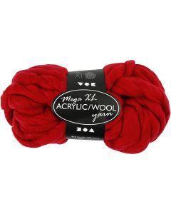 Filato spesso Chunky in lana/acrilico, L: 15 m, misura mega , rosso scuro, 300 g/ 1 gom.