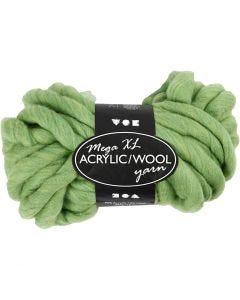 Filato spesso Chunky in lana/acrilico, L: 15 m, misura mega , verde lime, 300 g/ 1 gom.