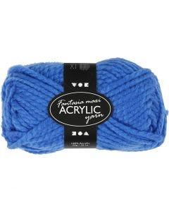 Filo acrilico Fantasia, L: 35 m, misura maxi , blu, 50 g/ 1 gom.