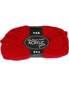 Filo acrilico Fantasia, L: 35 m, misura maxi , rosso, 50 g/ 1 gom.