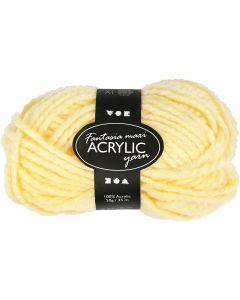 Filo acrilico Fantasia, L: 35 m, misura maxi , giallo chiaro, 50 g/ 1 gom.