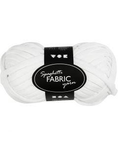 Filo in tessuto, L: 35 m, bianco, 100 g/ 1 gom.