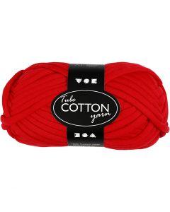 Filo tubolare in cotone, L: 45 m, rosso, 100 g/ 1 gom.