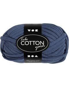 Filo tubolare in cotone, L: 45 m, blu scuro, 100 g/ 1 gom.