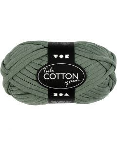 Filo tubolare in cotone, L: 45 m, verde scuro, 100 g/ 1 gom.