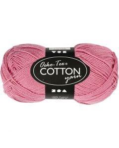 Filato in cotone, dim. 8/4, L: 170 m, rosato scuro, 50 g/ 1 gom.