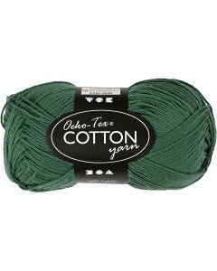 Filato in cotone, dim. 8/4, L: 170 m, verde scuro, 50 g/ 1 gom.