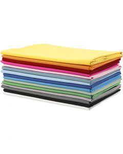 Stoffa, L: 145 cm, 140 g, colori asst., 15x2 m/ 1 conf.
