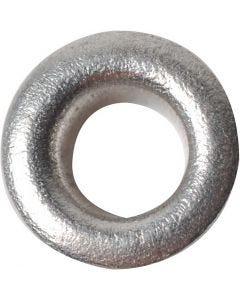 Occhielli, H: 3 mm, diam: 8 mm, misura buco 4,8 mm, argento, 50 pz/ 1 conf.