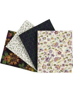 Stoffa patchwork, misura 45x55 cm, 100 g, viola, 4 pz/ 1 conf.