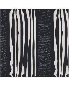 Stoffa, L: 145 cm, 140 g, nero, 1 risma