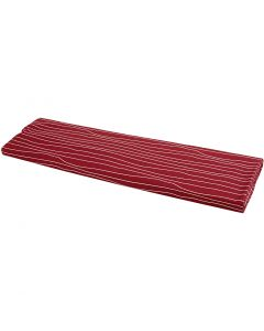 Stoffa, L: 145 cm, 140 g, rosso/bianco, 10 m/ 1 rot.