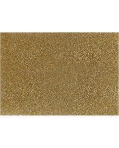 Pellicola da stirare, 148x210 mm, glitter, oro, 1 fgl.