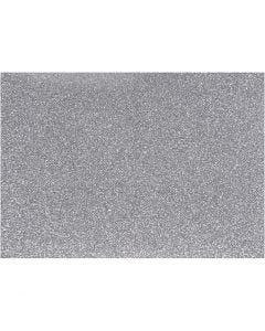 Pellicola da stirare, 148x210 mm, glitter, argento, 1 fgl.