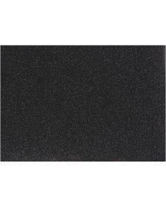 Pellicola da stirare, 148x210 mm, glitter, nero, 1 fgl.