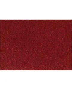 Pellicola da stirare, 148x210 mm, glitter, rosso, 1 fgl.