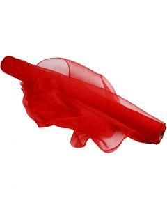 Tessuto organza, L: 50 cm, rosso, 10 m/ 1 rot.