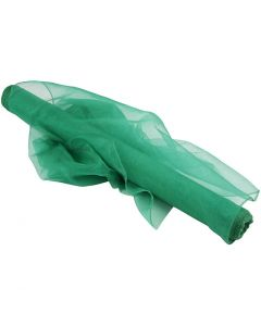 Tessuto organza, L: 50 cm, verde, 10 m/ 1 rot.