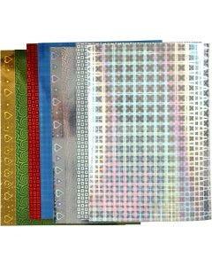 Carta olografica, A4, 210x297 mm, 120 g, 8 fgl. asst./ 1 conf.