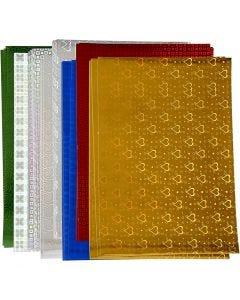 Carta olografica, A4, 210x297 mm, 120 g, 80 fgl. asst./ 1 conf.
