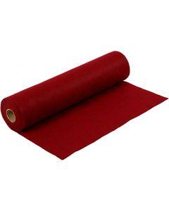 Feltro creativo, L: 45 cm, spess. 1,5 mm, ruvido, 180-200 g, rosso, 5 m/ 1 rot.