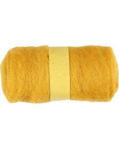Lana cardata, giallo, 100 g/ 1 pacch.