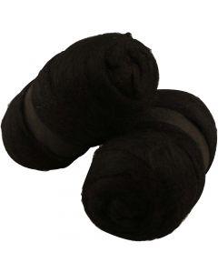 Lana cardata, nero, 2x100 g/ 1 conf.