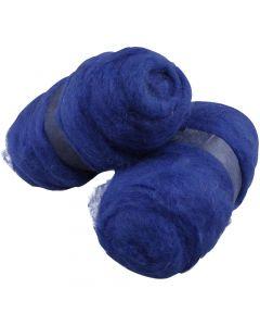 Lana cardata, blu reale, 2x100 g/ 1 conf.