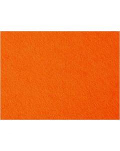 Feltro, 42x60 cm, spess. 3 mm, arancio, 1 fgl.