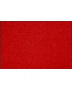 Feltro, 42x60 cm, spess. 3 mm, rosso, 1 fgl.