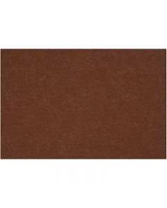 Feltro, 42x60 cm, spess. 3 mm, marrone, 1 fgl.