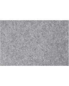 Feltro, 42x60 cm, spess. 3 mm, grigio, 1 fgl.