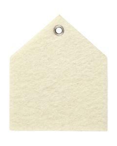 Feltro sagomato, misura 6,5x7,5 cm, spess. 3 mm, avorio, 5 pz/ 1 conf.