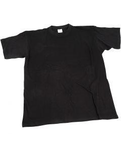 T-shirt, L: 40 cm, misura 7-8 anno, collo rotondo, nero, 1 pz