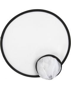 Frisbee, diam: 25 cm, bianco, 5 pz/ 1 conf.