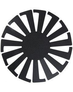 Base per certino intrecciato, H: 8 cm, diam: 14 cm, nero, 10 pz/ 1 conf.