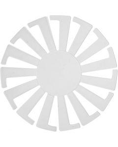Base per certino intrecciato, H: 6 cm, diam: 8 cm, transparent, 10 pz/ 1 conf.