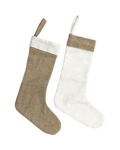 Sagome di stoffa, H: 26 cm, L: 16 cm, bianco, natural chiaro, 6 pz/ 1 conf.