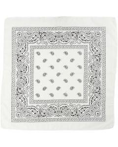 Bandana stampata, misura 55x55 cm, bianco, 1 pz