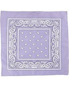 Bandana stampata, misura 55x55 cm, viola, 1 pz