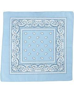 Bandana stampata, misura 55x55 cm, azzurro, 1 pz