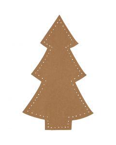 Albero di Natale, H: 18 cm, L: 11 cm, 350 g, natural, 4 pz/ 1 conf.