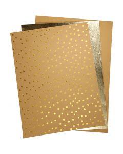 Carta in finta pelle, 21x27,5+21x28,5+21x29,5 cm, spess. 0,55 mm, tinta unita,lamina,stampa, 3 fgl./ 1 conf.
