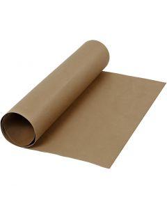 Carta in finta pelle, L: 50 cm, tinta unita, 350 g, marrone scuro, 1 m/ 1 rot.