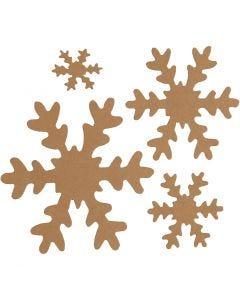Fiocco di neve, diam: 3+5+8+10 cm, 350 g, natural, 16 pz/ 1 conf.
