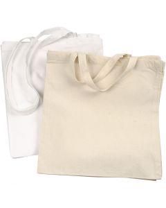 Shopping Bag, 135 g, bianco, natural chiaro, 2x10 pz/ 1 conf.