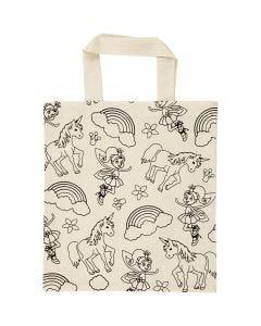 Shopping bag, misura 27,5x30 cm, 135 g, natural chiaro, 1 pz